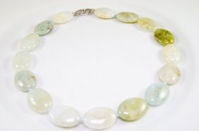 Tumbled Green Beryl Necklace