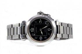 Cartier Pasha C Wristwatch, Stainless Steel