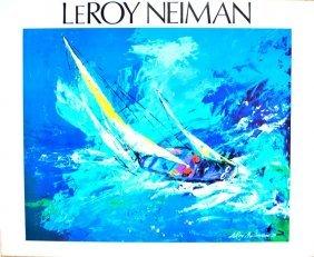 "Leroy Neiman - ""sailing"""