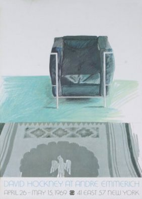 Hockney Corbusier Chair And Rug