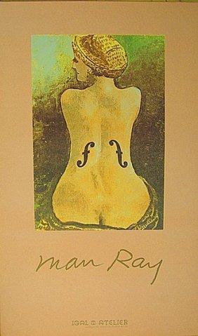 "Man Ray. ""violin D'ingres""vintage Poster 80s"