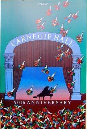 Milton Glaser Carnegie Hall 90th Aniversary 1891 - 1981