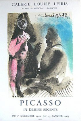 Picasso The Artist And His Model Original Lithograph