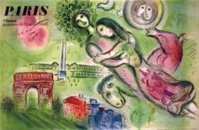 Marc Chagall; Paris Opera Ceiling The Original
