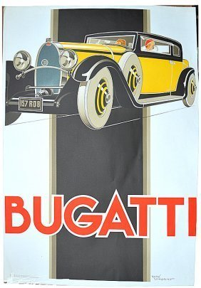 Rene Vincent Bugatti Original Lithograph Studio Edition