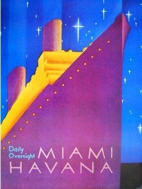 Miami Havana A Adaptation Of Printed Poster