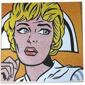 """Roy Lichtenstein """"nurse 1964 """"original Silkscreen"""