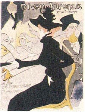 Toulouse Lautrec Divan Japonaise Litho Musee 1980s