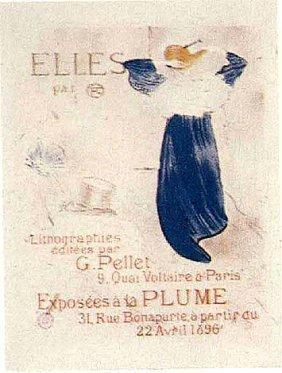 """Lautrec """"elles""""lithograph Muse D' Albi"""