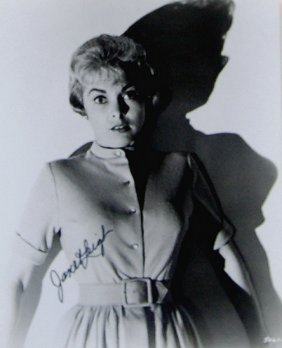 Janet Leigh Movie Psayco 8x10 Signed Attractive B/w