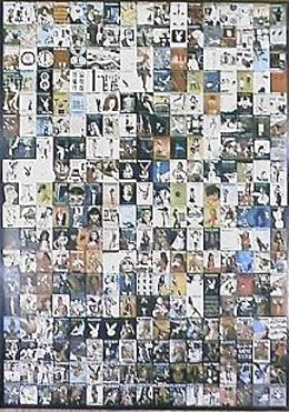 Playboy Poster With 300 Covers From 1953 - 1979.