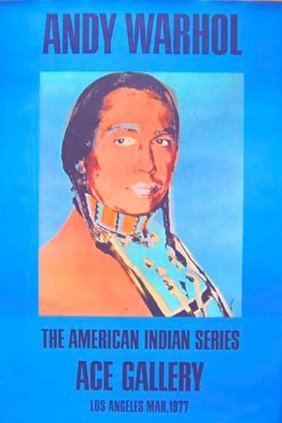 """Andy Warhol, """"american Indian"""". Russel"""