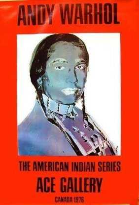 """Andy Warhol""""indian """"(red) 1977 List $1500 Star $975"""