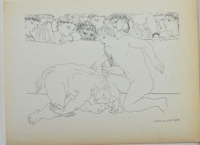 "Picasso ""bullfight""etching Litho Printed By Mourlot"