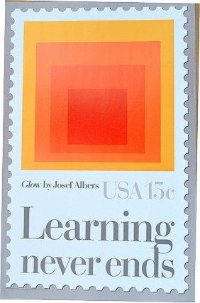 "Josef Albers ""glow""learning Never - Liquidation 2"
