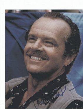 Jack Nicholson - 8 X 10 Photo W/ Certificate