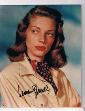 Lauren Bacall - 8 X 10 Photo W/ Certificate #2