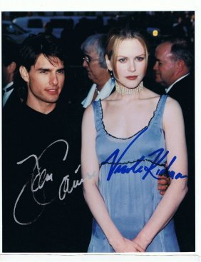 Tom Cruise/nicole Kidman - 8 X 10 Photo W/ Certificate