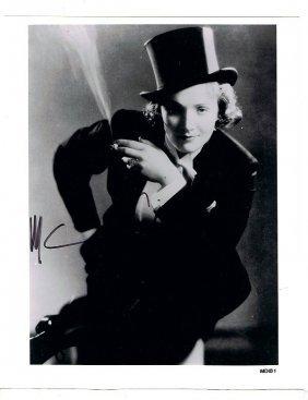 Marlene Detriech - 8 X 10 Photo W/ Certificate