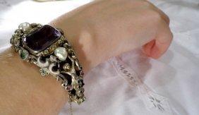 Antique Jugendstil Austro Hungarian Bejeweled Bracelet