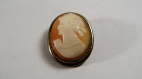 Antique Italian Hand Carved Shell Cameo Double Purpose,