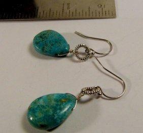Beautiful Turquoise Teardrop Drop Earrings. Stones