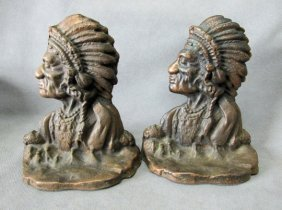 Cast Iron Arts And Crafts Native American Indian