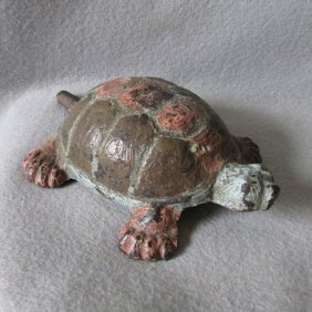 Antique Cast Iron Turtle Doorstop