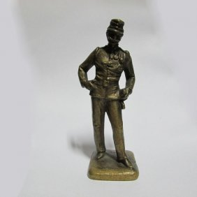 Miniature Vienna Bronze Of Soldier In Uniform
