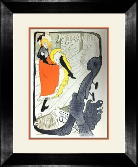 Toulouse Lautrec Poster Printed In Lithography By