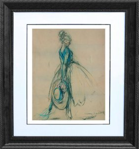 After Louis Icart-limited Edition Giclee-new Hat