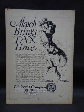 "Sam Hyde Harris Advertising Mock-up Original Art ""march"