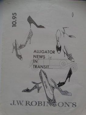 Jw Robinson's Ad Proof: Alligator News In Transit
