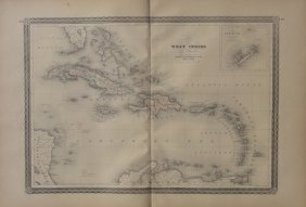 Map Of West Indies, 1868