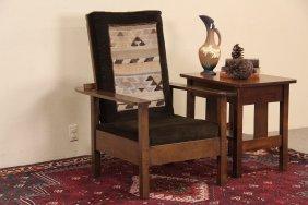L & Jg Stickley Signed Reclining Arts & Crafts Antique
