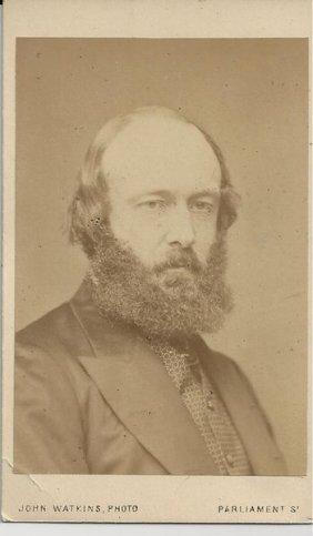 Cdv Of British Prime Minister Arthur Talbot