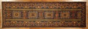 New Antique Tribal Navy Blue Baluch Runner Persian 3x10