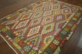 Tribal Collection Oriental 6x8 Flat Weave Kilim Multi