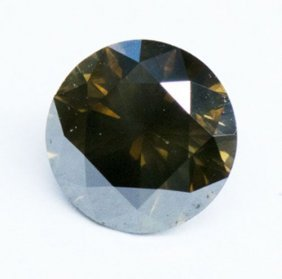 1.22ct Round Brilliant Fancy Dark Brown Diamond