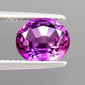 Oval Purple Sapphire 3.04 Carats - Vvs