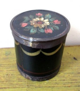 Paint Decorated Spice Box