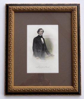 Portrait Of Jefferson Davis By Brady, 1866