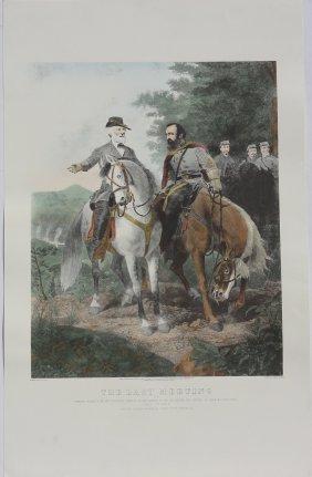 Last Meeting Of Robert E. Lee And Stonewall Jackson