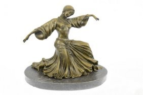 Dancer Edition Decorative Bronze Sculpture On Marble