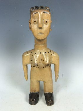 Carved Wooden Ewe Doll