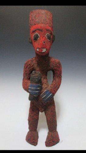 Bamileke Beaded Statue