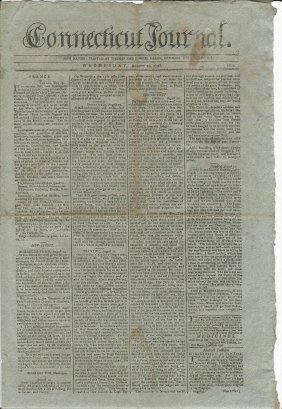 1798 Connecticut Journal Lord Nelson Napolean