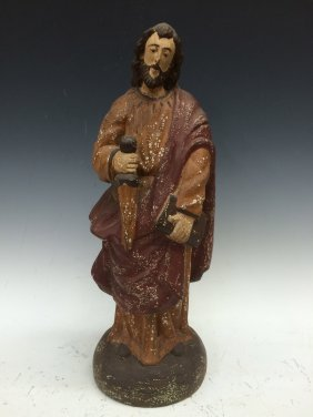 Carved Wood Saint Roch
