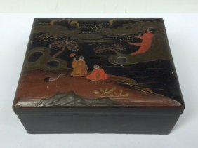 Japanese Black Lacquered Box