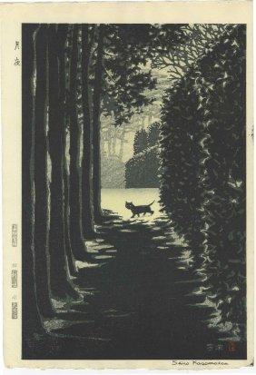 Kasamatsu Shiro - Black Cat On A Moonlit Night 1958